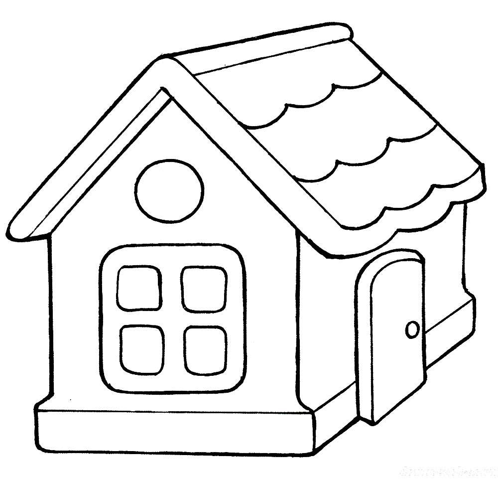 Раскраска домик для малышей