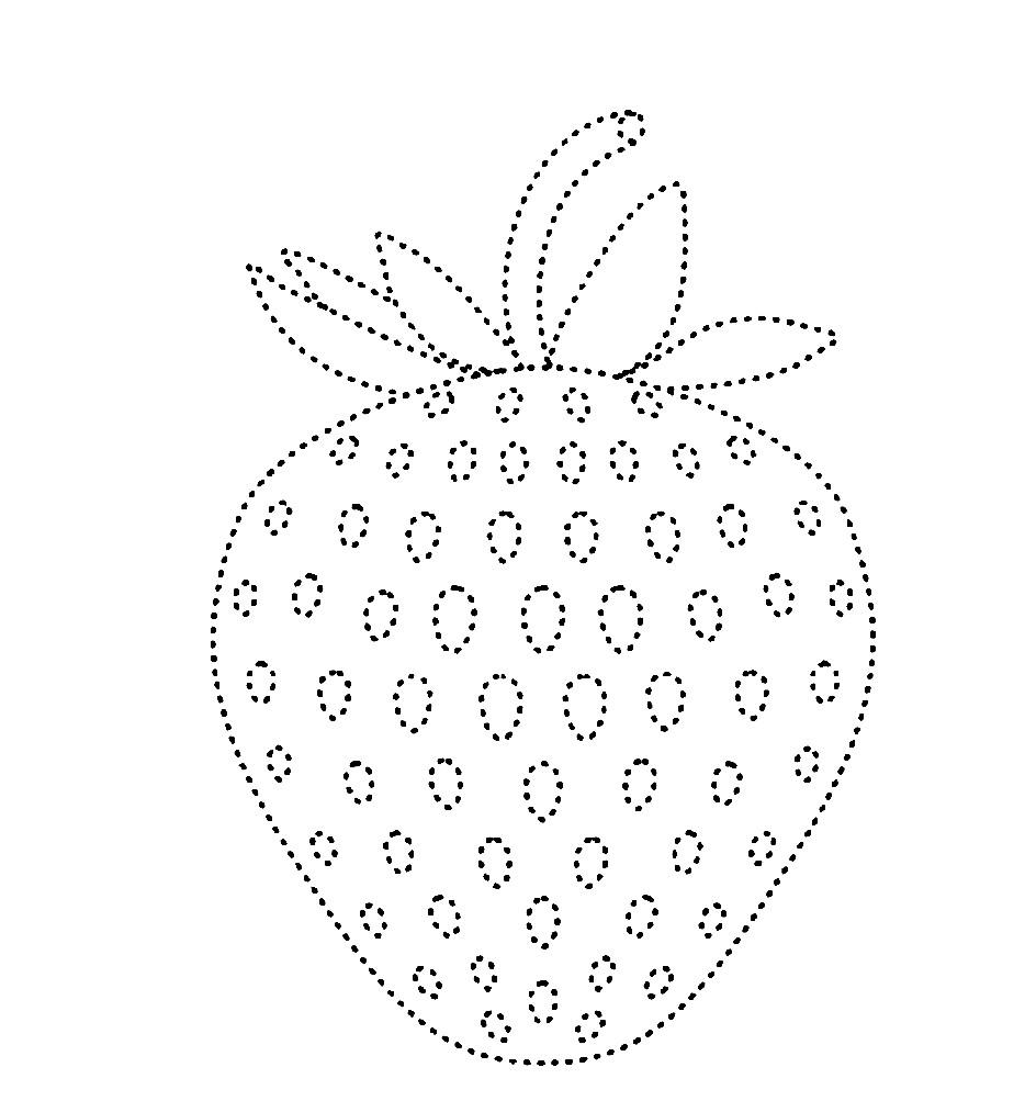 Раскраска клубника по точкам | Раскраски Фрукты и Ягоды