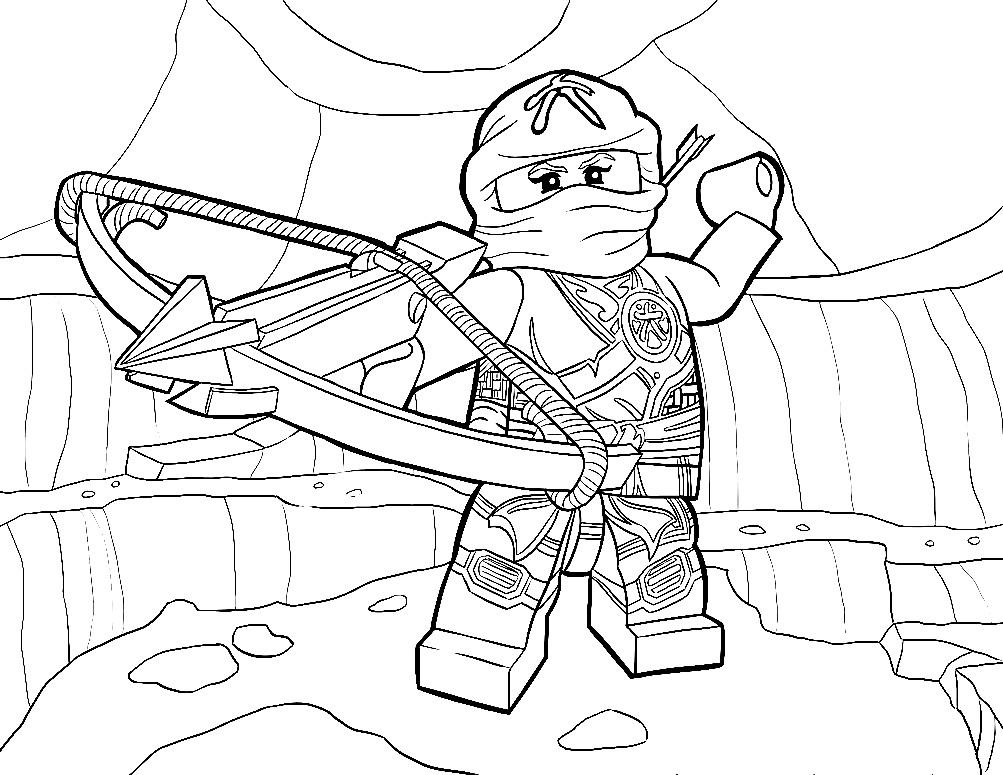 Раскраска Лего Ниндзяго Скайлор   Раскраски Лего Ниндзя Го