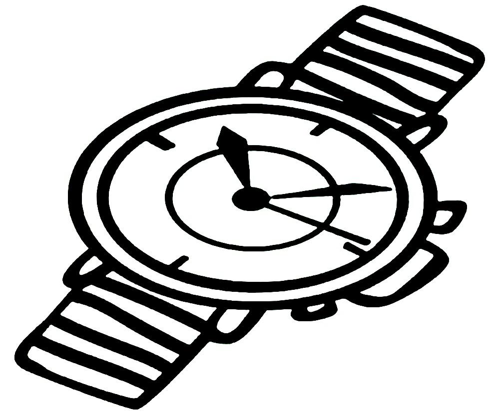 Раскраски часы для детей - 7