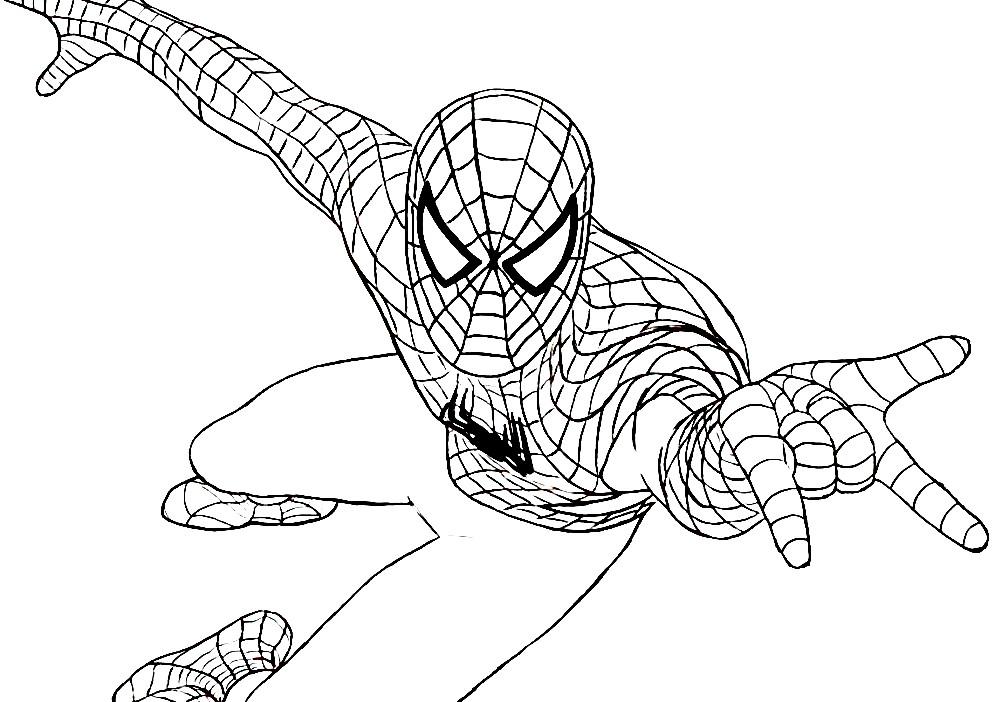Раскраска Человек — паук спешит на помощь | Раскраски ...
