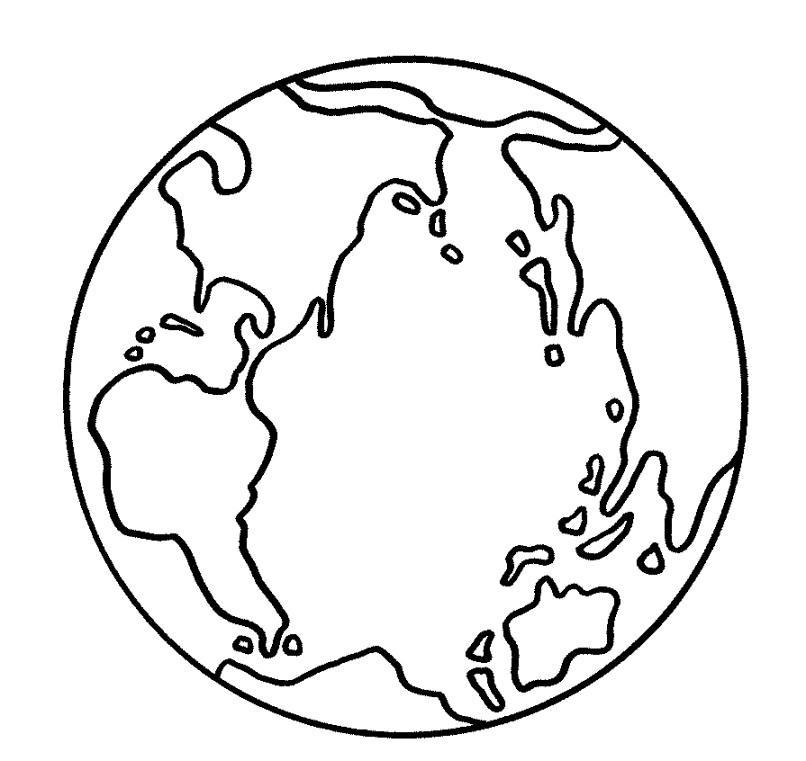 Раскраска обитаемая планета