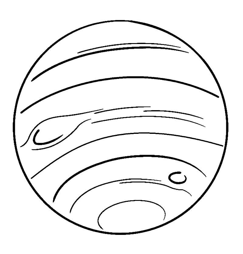 Раскраска Нептун