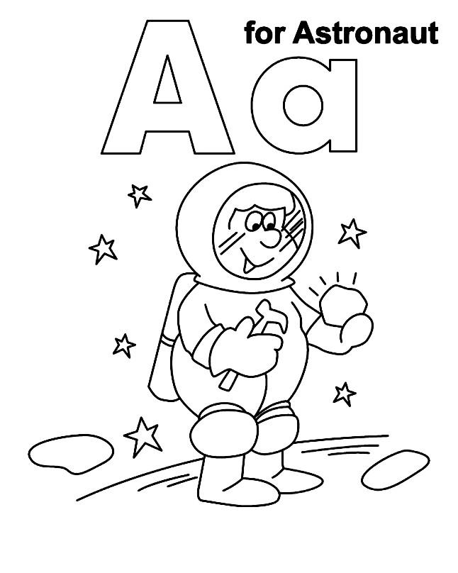 Раскраска Astronaut