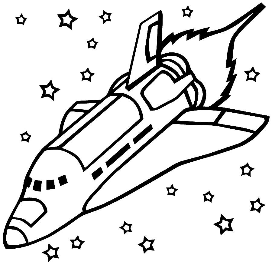 Раскраска космический полёт