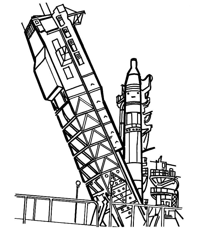 Раскраска старт космического корабля