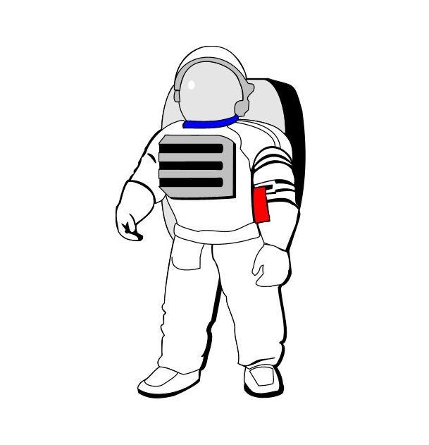 Раскраска костюм космонавта