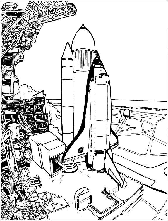 Раскраска центр космических полетов