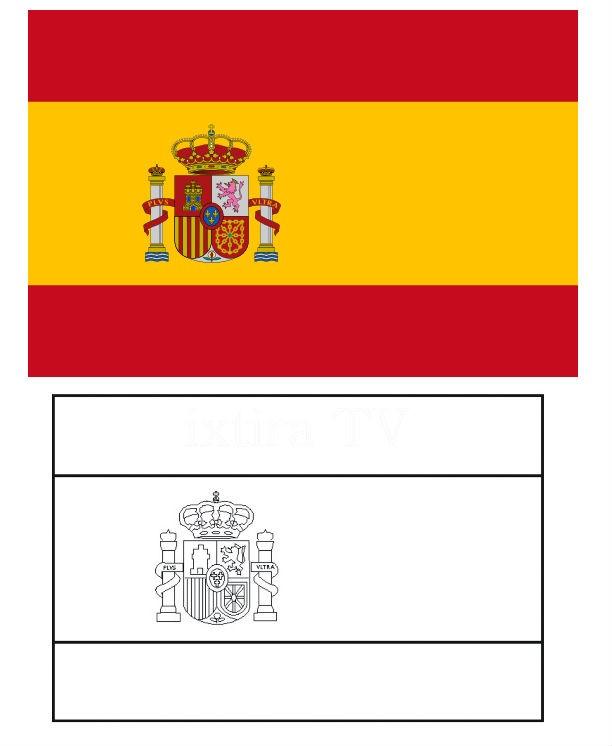 Раскраска флаг Испании