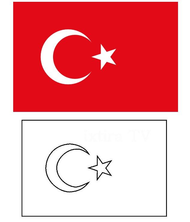 Раскраска флаг Турции