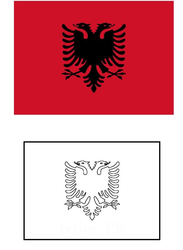 Раскраска флаг Албании