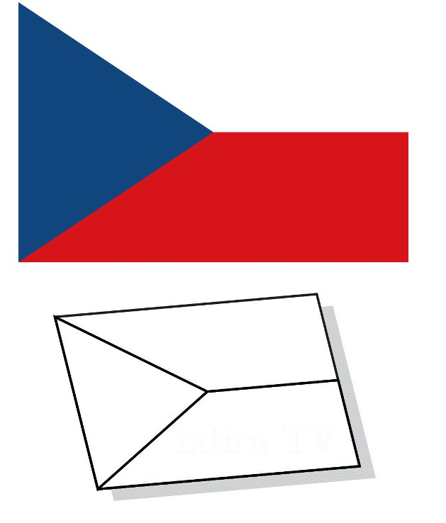Раскраска флаг Чехии