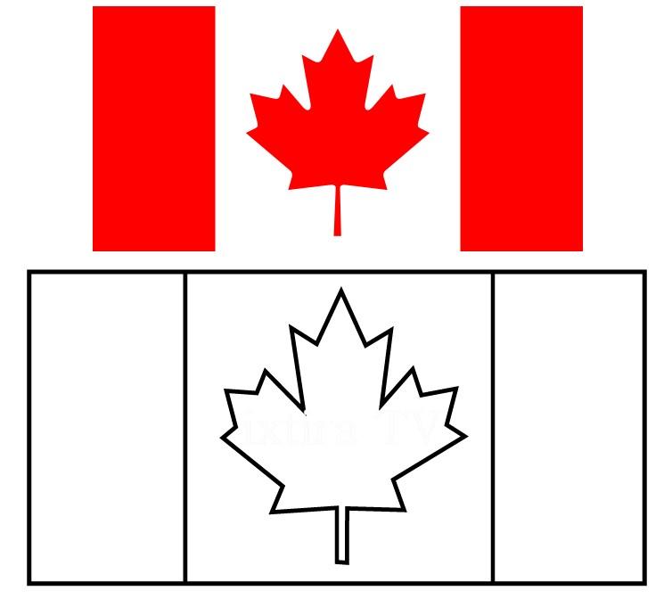 Раскраска флаг Канады