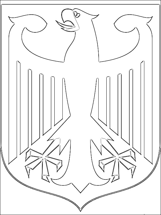 Раскраска эмблема Германии