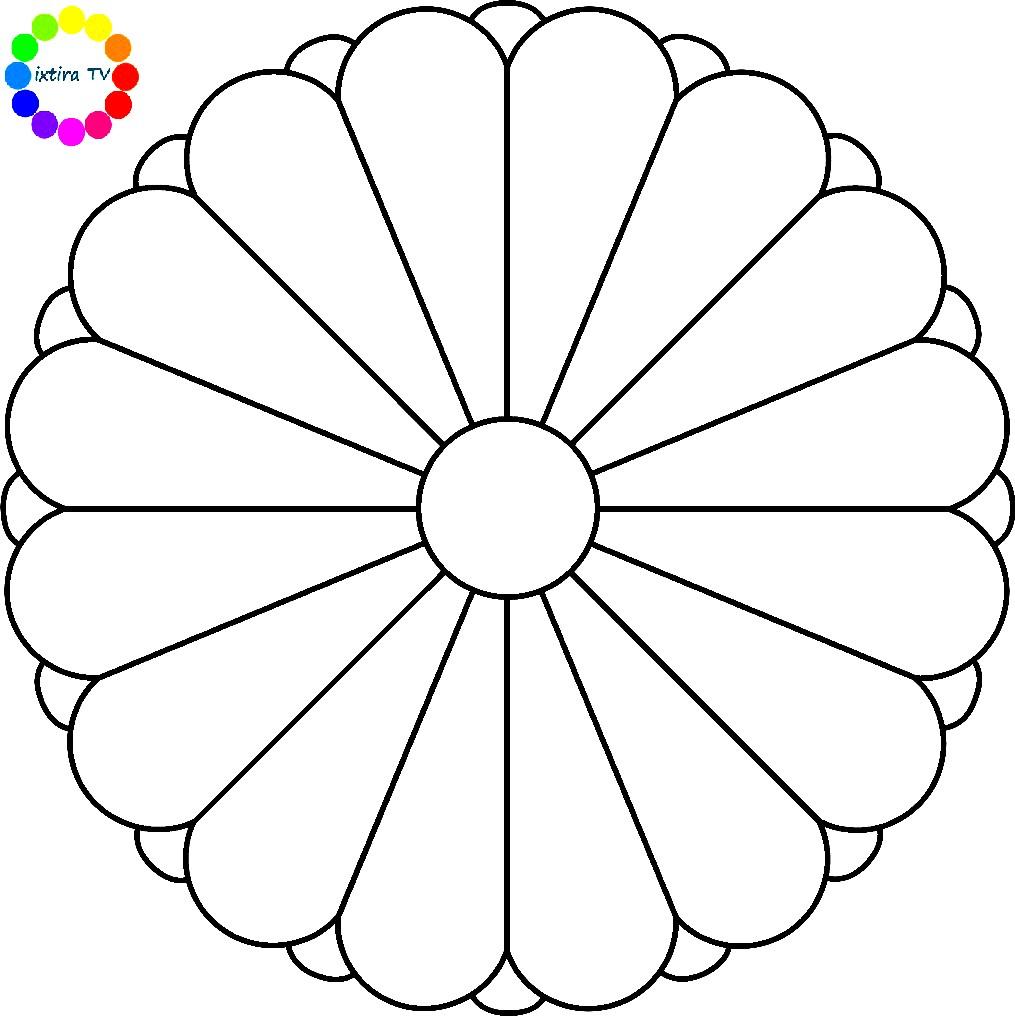 Раскраска эмблема Японии