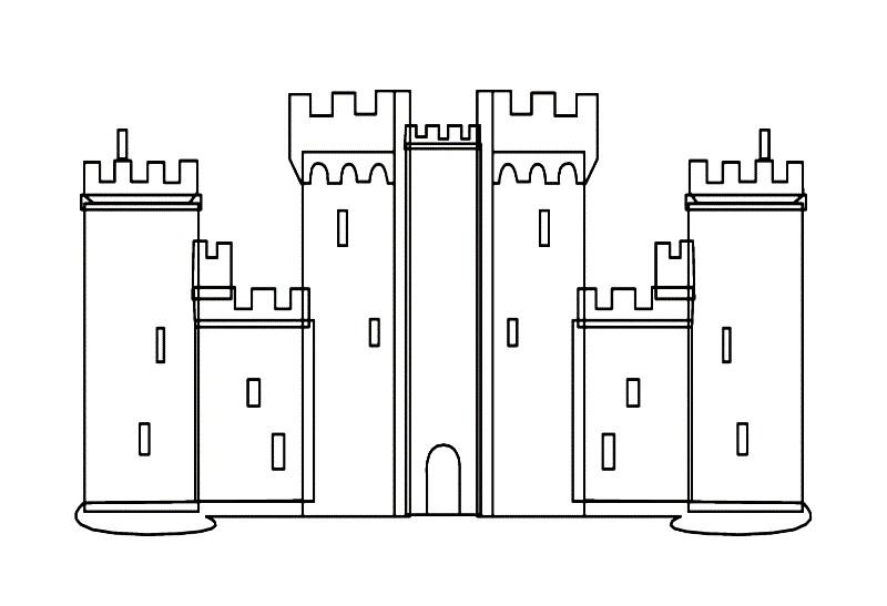 Раскраска схема замка