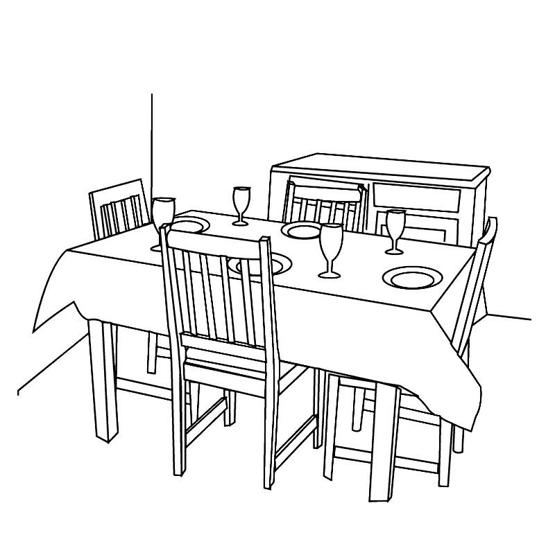 Раскраска столовая