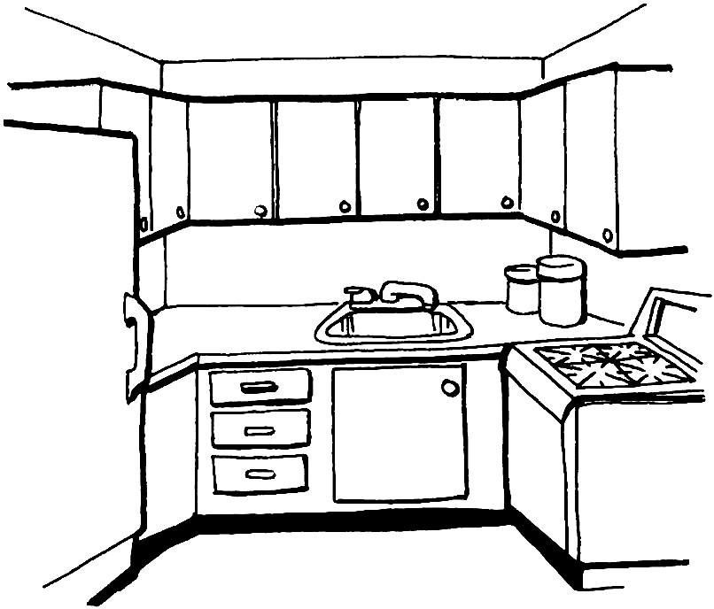 Раскраска кухня