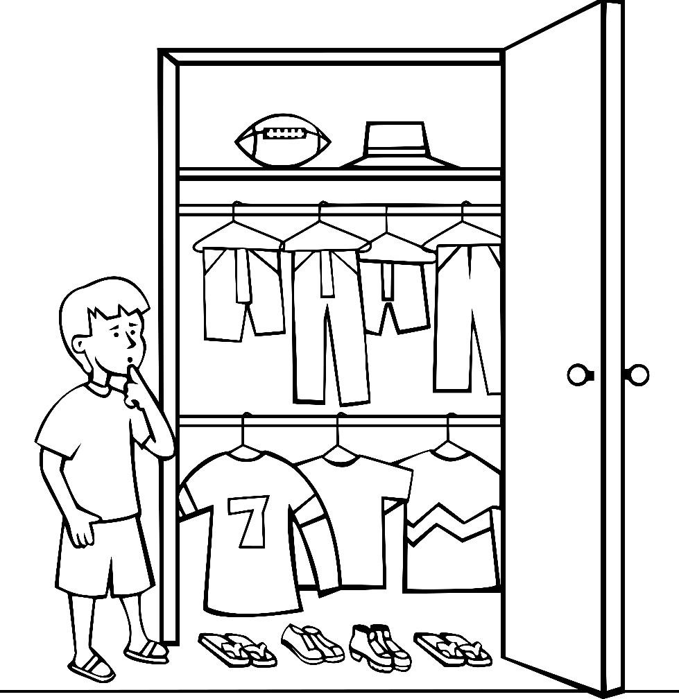 Раскраска гардероб