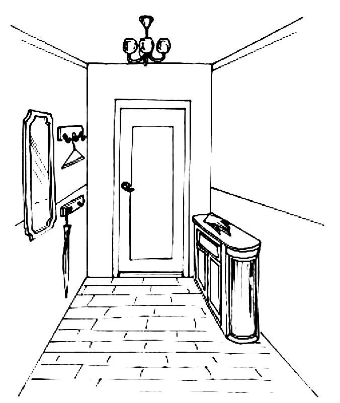 Раскраска коридор