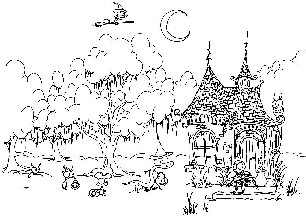 Раскраска сказочный домик