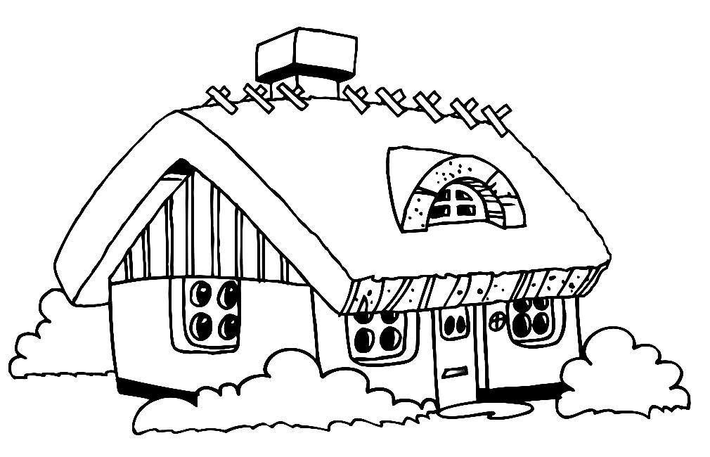 Раскраска дом бабушки