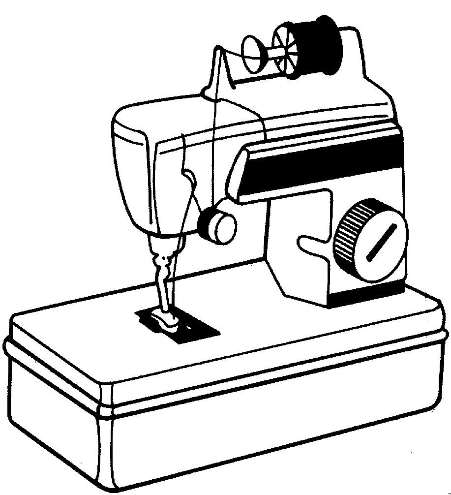 Раскраска швейная машинка