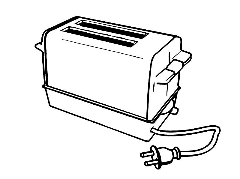 Раскраска тостер