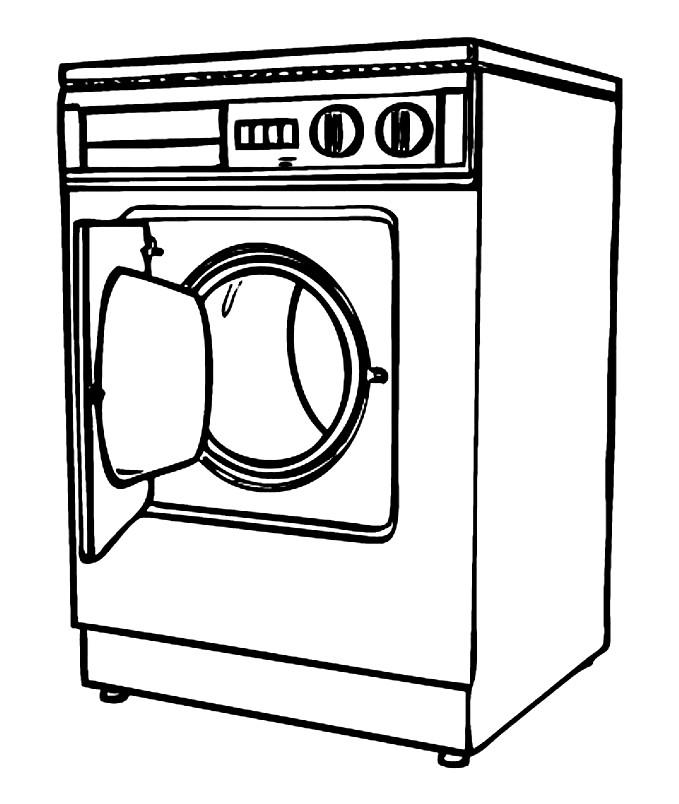 Раскраска стиральная машина
