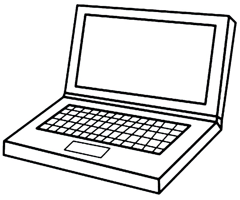 Раскраска ноутбук