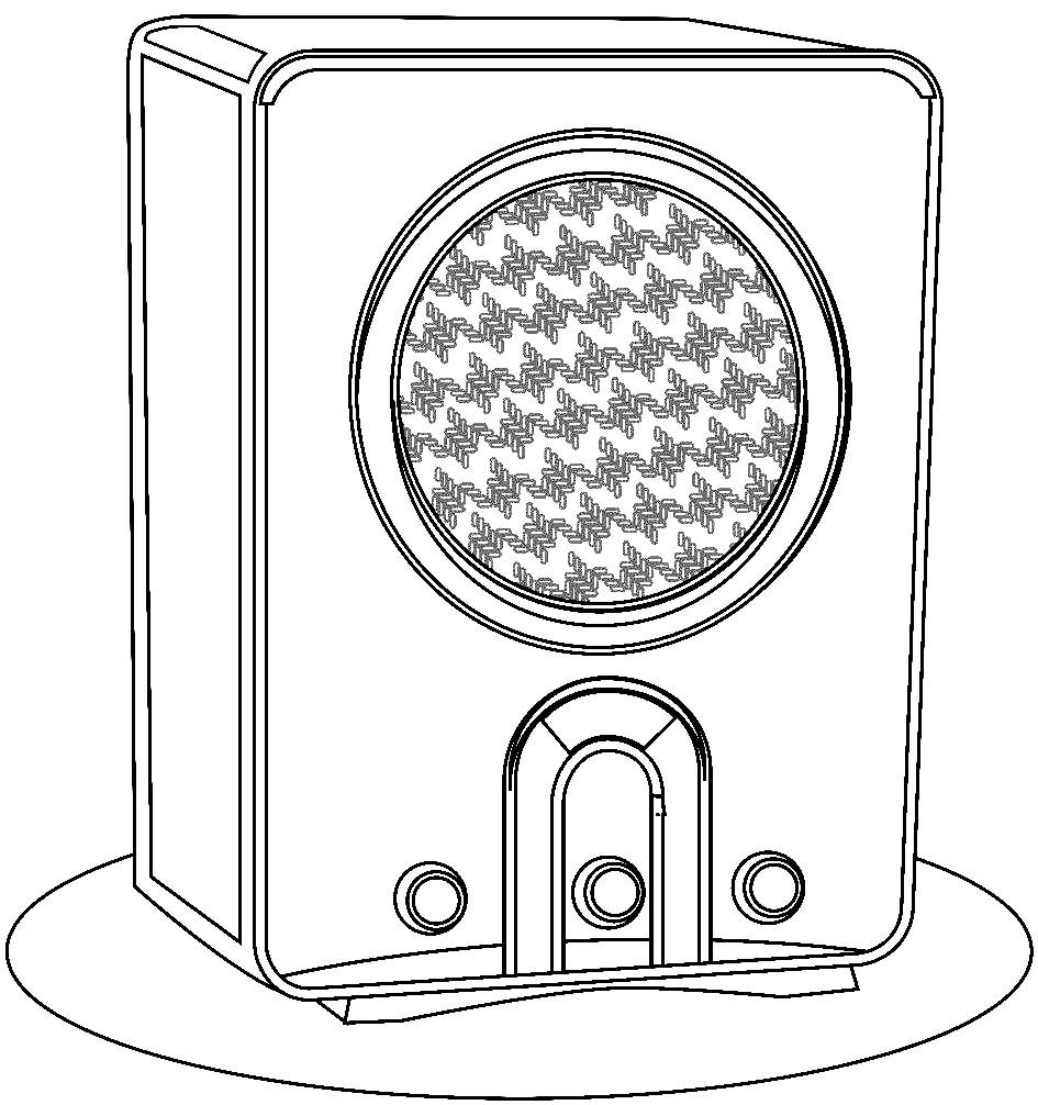 Раскраска старинное радио