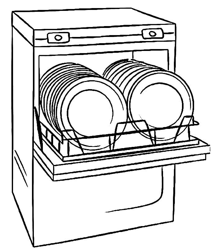 Раскраска посудомоечная машина