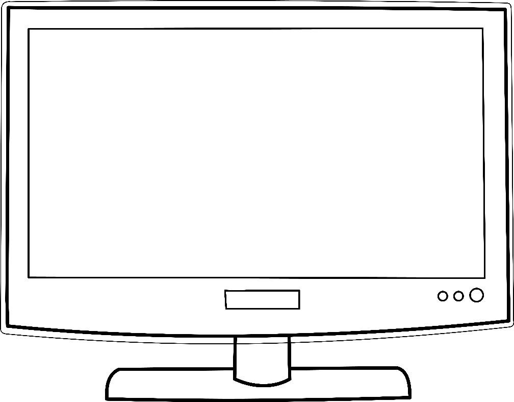Раскраска плазменный телевизор