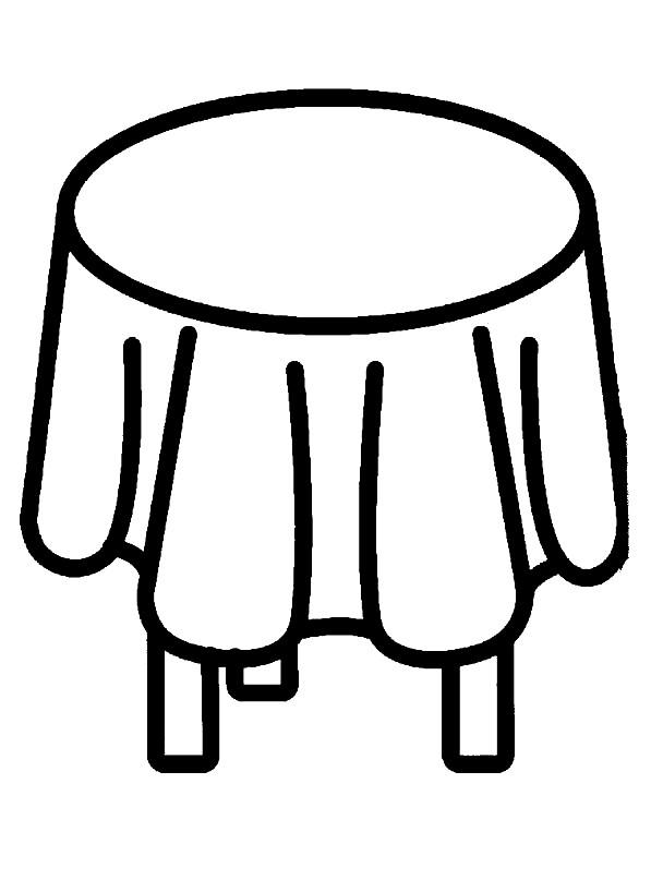 Раскраска маленький столик