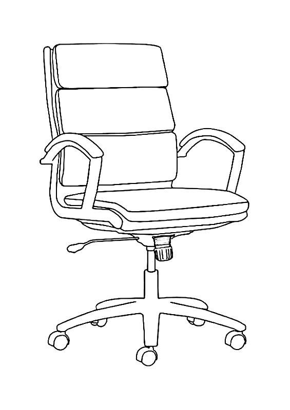 Раскраска офисное кресло