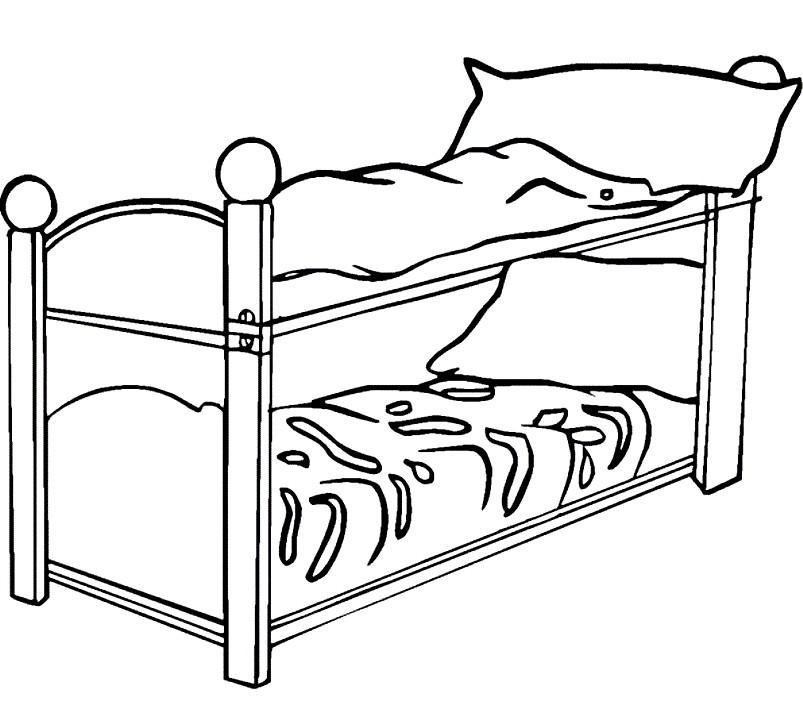 Раскраска двухъярусная кровать