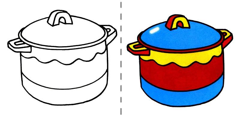 Раскраска кастрюля | Раскраски для детей распечатать ...