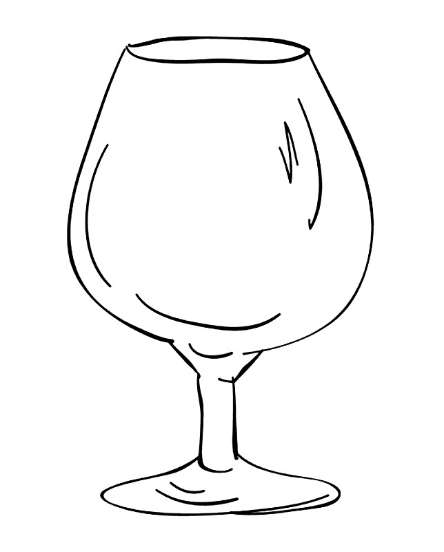Раскраска бокал