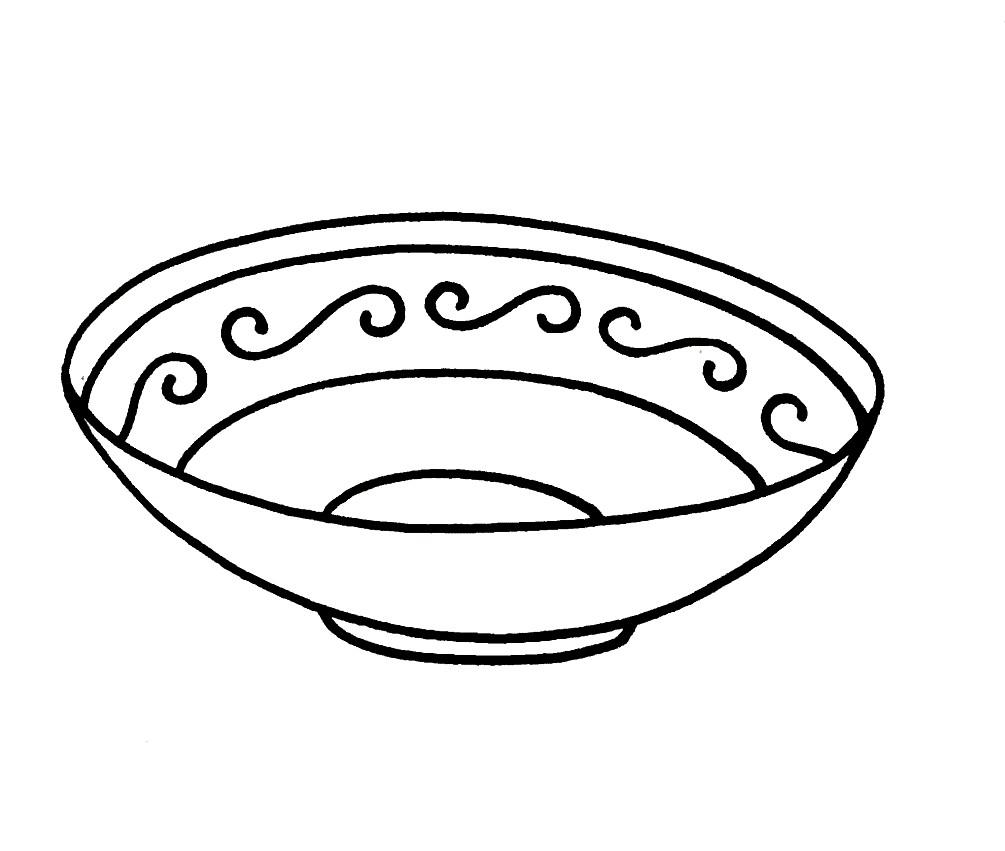 Раскраска блюдце