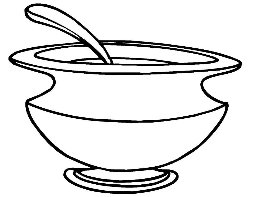 Раскраска супница