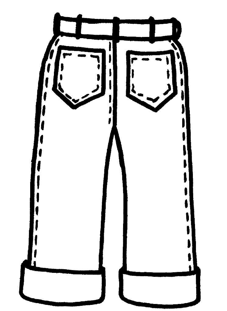 Раскраска джинсы
