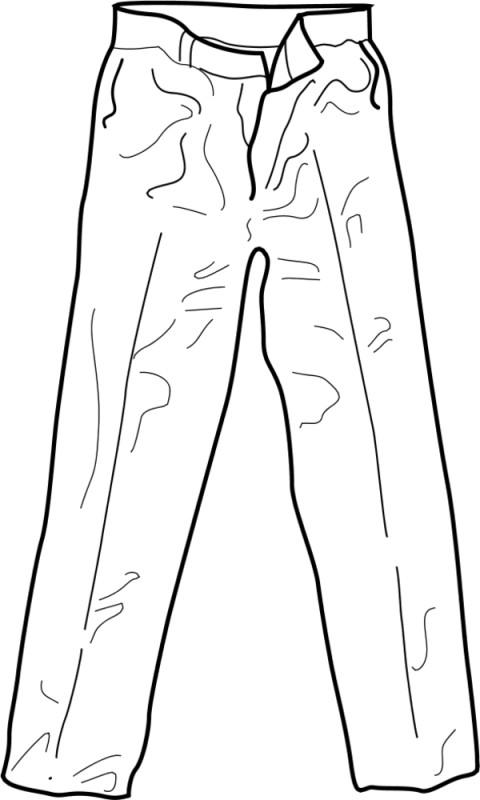 Раскраска брюки