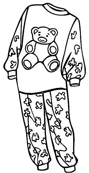 Раскраска пижама