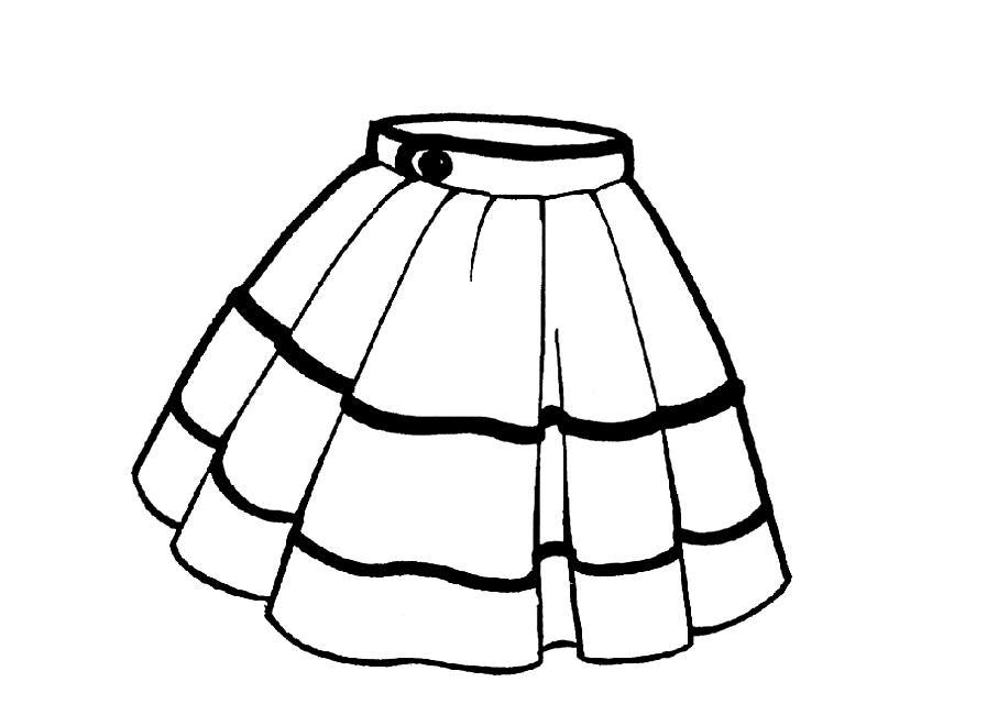 Раскраска юбка