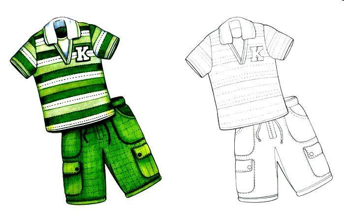 Раскраска спортивная одежда