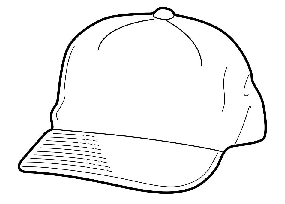Раскраска бейсболка