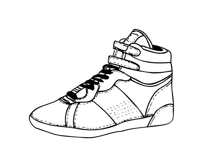 Раскраска баскетбольная кроссовка