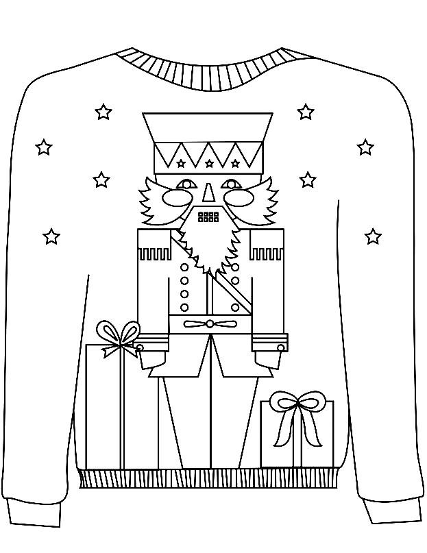 Раскраска детский свитер