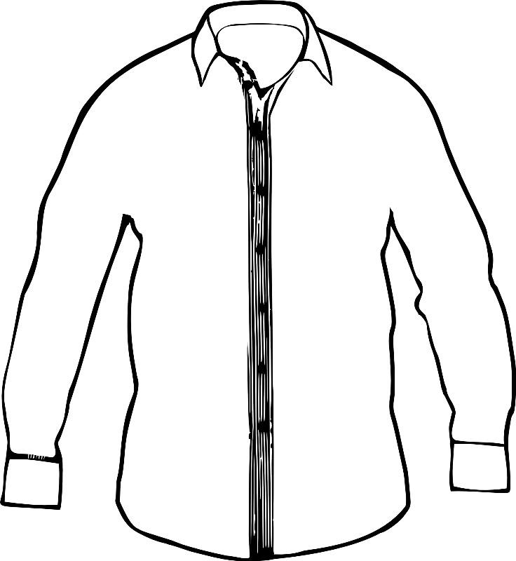 Раскраска мужская рубашка