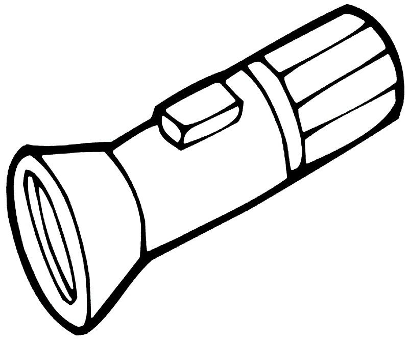 Раскраска фонарик